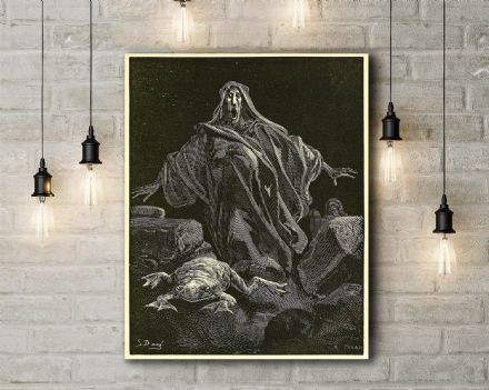 Gustave Dore: The Shriek of Timidity. Fine Art Canvas.